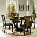 Boyer Black And Cherry Two-Tone Wood Dining Table Set
