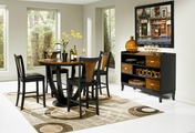 Boyer Black And Cherry Wood Pub Table Set