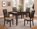 Brandt Dark Cherry Wood Dining Table Set