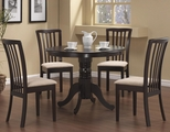 Brannan Rich Cappuccino Wood Dining Table Set