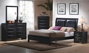 Briana Black Wood Queen Bed Set