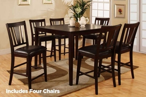 Bridgette 5pc Pub Table and Chair Set