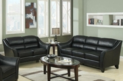 Brooklyn Black Sofa and Loveseat Set