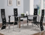 Broward Silver Metal And Glass Dining Table