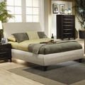 Brown Fabric California King Size Bed