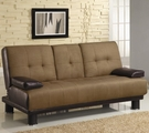 Brown Fabric Full Size Sofa Bed