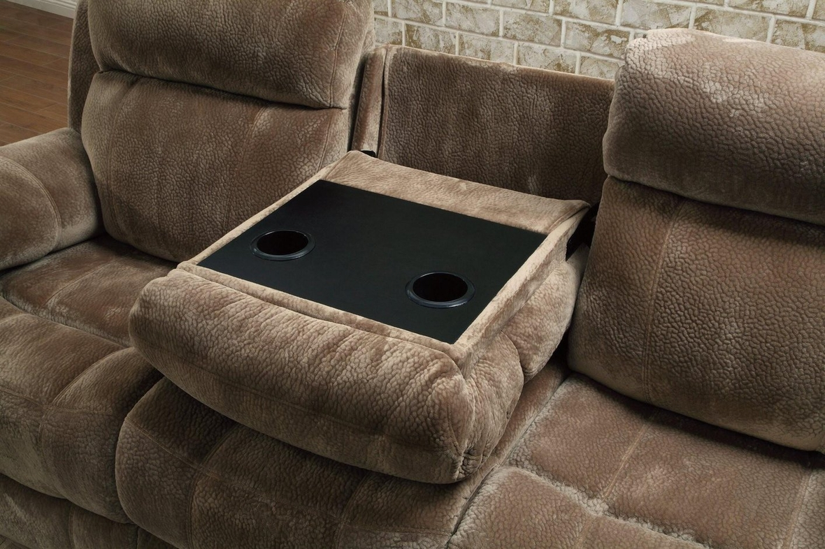 Coaster 603031 Brown Fabric Reclining Sofa Steal A Sofa