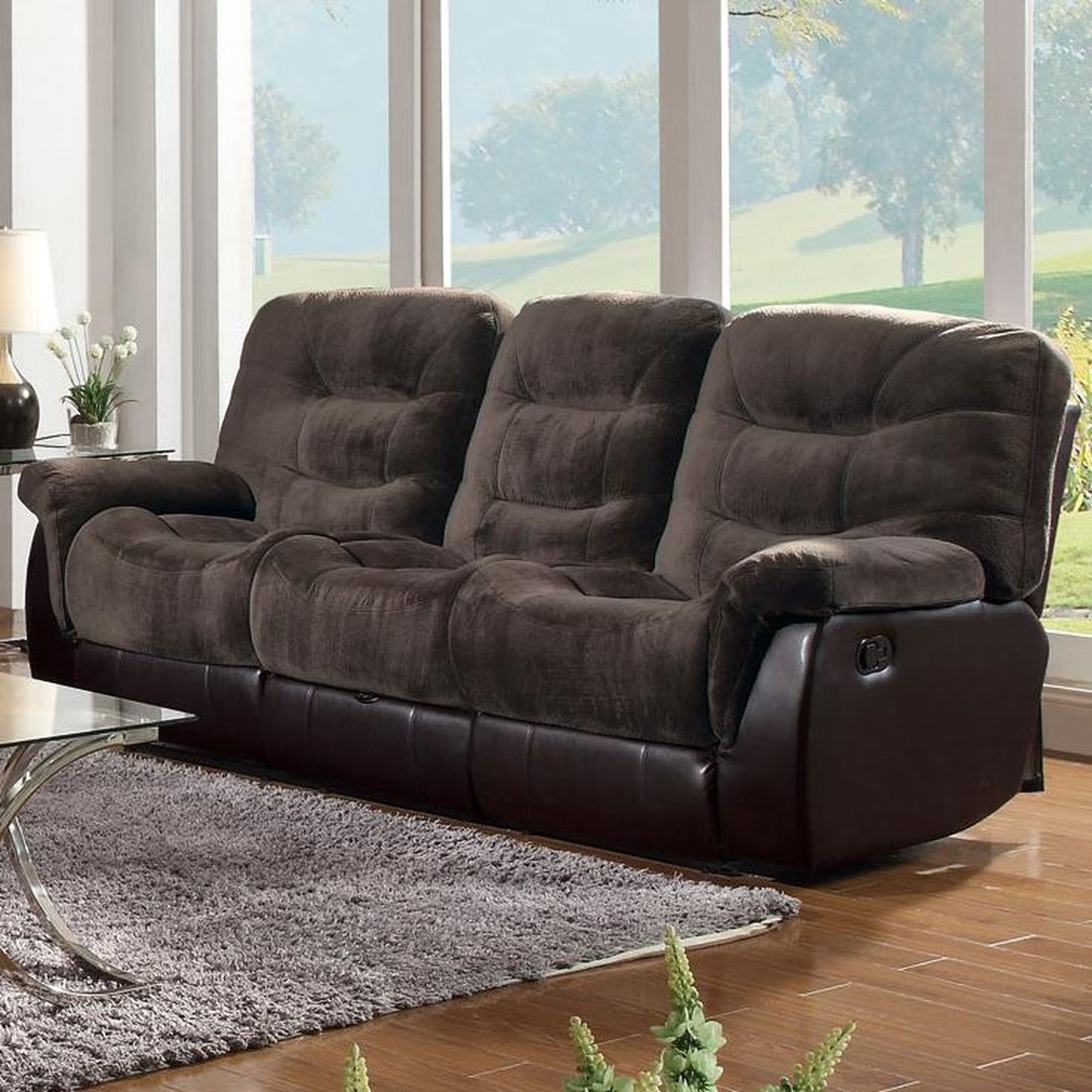 Fabric Recliner Sofa Where Is The Best Place To Buy  : brown fabric reclining sofa 3 from diydesign.org size 1414 x 1414 jpeg 286kB