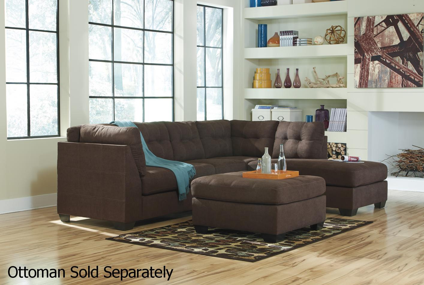 Ashley Maier 4520117 4520166 Brown Fabric Sectional Sofa