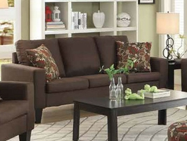 Bachman Brown Fabric Sofa