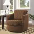 Brown Fabric Swivel Chair