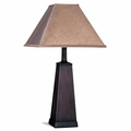 Brown Fabric Table Lamp