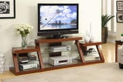 Brown Fabric TV Stand