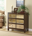 Brown Glass Accent Cabinet