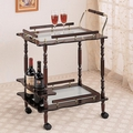 Brown Glass Serving Cart