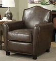 Brown Leather Accent Chair