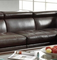 Brown Leather Armless Chair