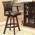Brown Leather Bar Stool