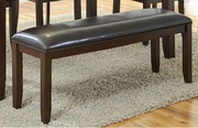 Brown Leather Bench