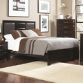 Brown Leather California King Size Bed