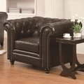 Roy Brown Leather Chair