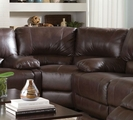 Brown Leather Corner Chair