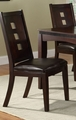 Brown Leather Dining Chair