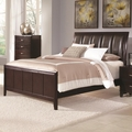 Brown Leather Eastern King Size Bed