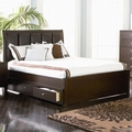 Brown Leather Full Size Bed