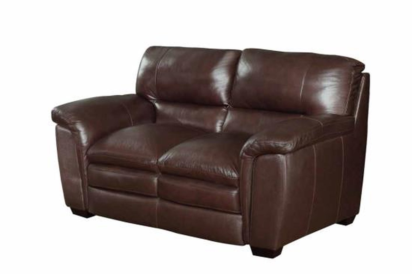 Coaster Burton 503972 Brown Leather Loveseat Steal A