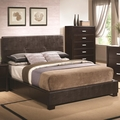 Brown Leather Queen Size Bed