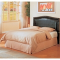 Brown Leather Queen Size Headboard