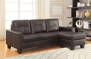 Acosta Brown Leather Sectional Sofa