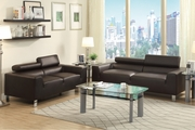 Falcon Brown Metal Sofa and Loveseat Set
