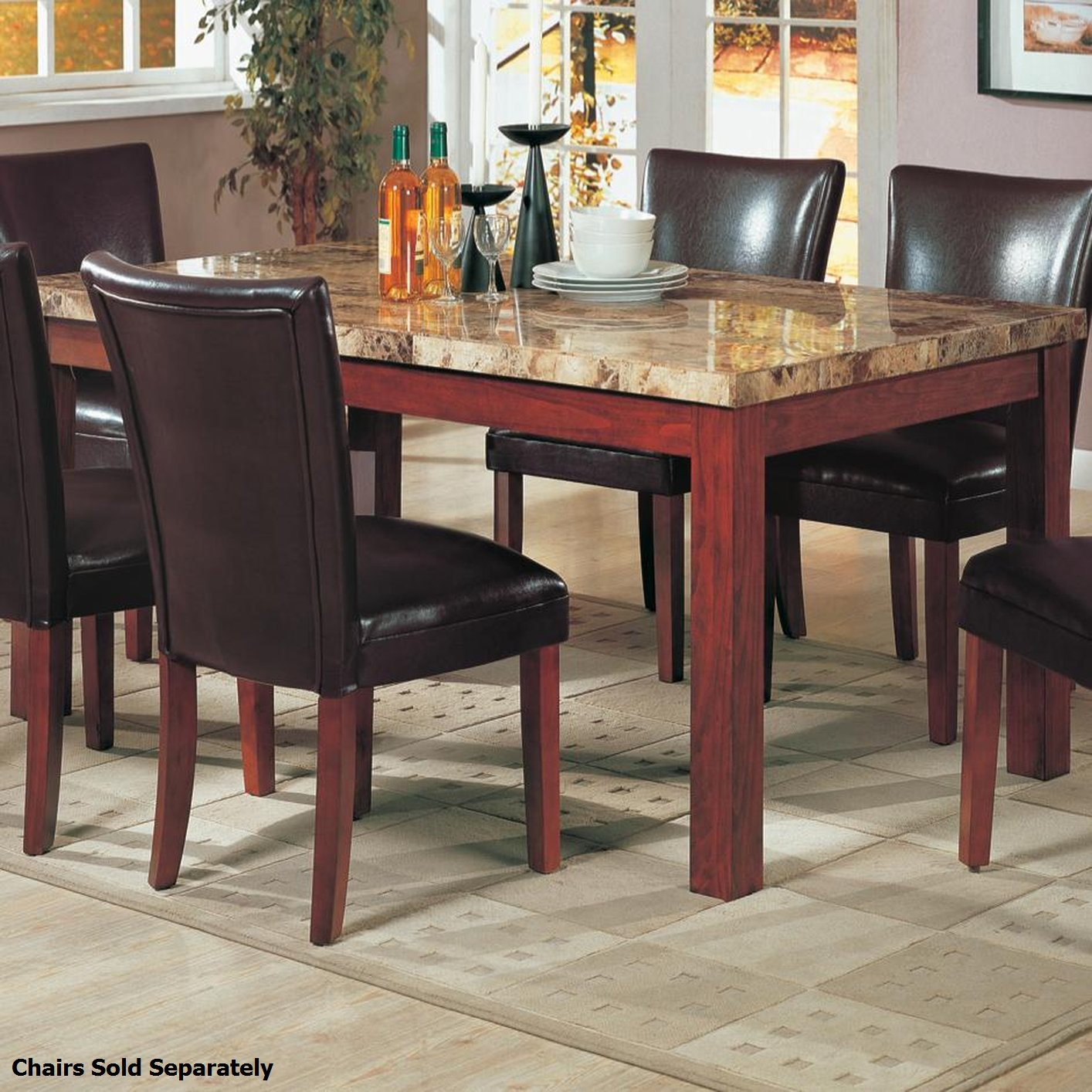 Brown Dining Room Table: Coaster 120311 Brown Marble Dining Table