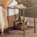 Brown Metal Nightstand