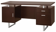 Brown Metal Office Desk