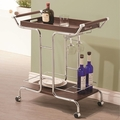 Brown Metal Serving Cart