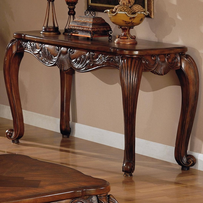 Victoria Brown Wood Console Table
