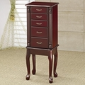 Brown Wood Jewelry Armoire