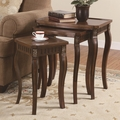 Brown Wood Nesting Table