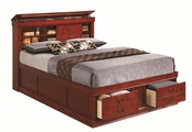 Red Wood Bed