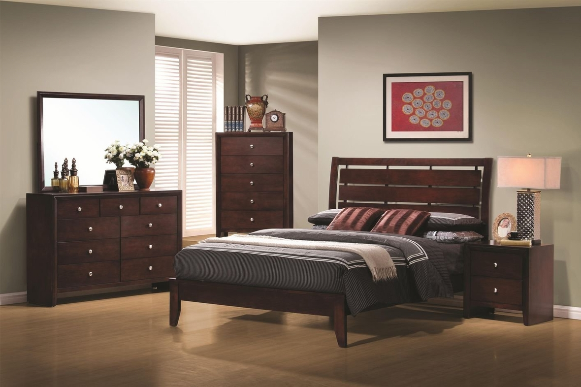 Queen Size Bedroom Suite Coaster 201971q Brown Queen Size Wood Bed Steal A Sofa Furniture