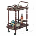 Brown Wood Serving Cart