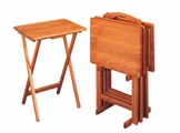 Brown Wood Tray Table