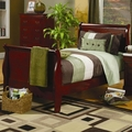 Brown Wood Twin Size Bed