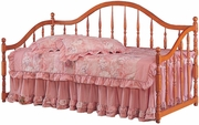 Brown Wood Twin Size Day Bed