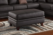 Calantha Brown Leather Ottoman