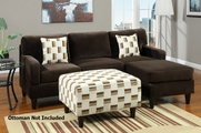 Camilla Chocolate Sectional Sofa