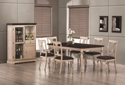 Camille Antique White Wood Dining Table